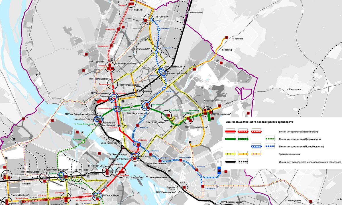 Схема развития пассажирского транспорта до 2050 года