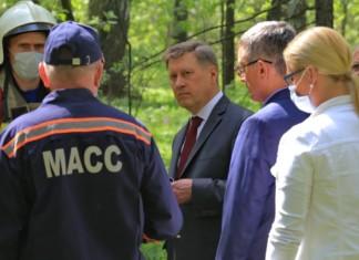 Мэр Новосибирска проинспективал принимаемые меры для предотвращения лесных пожаров