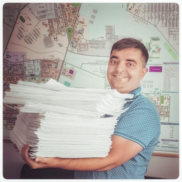 Миниатюра для: Новосибирские «Зелёные» сдали в избирком листы с подписями избирателей