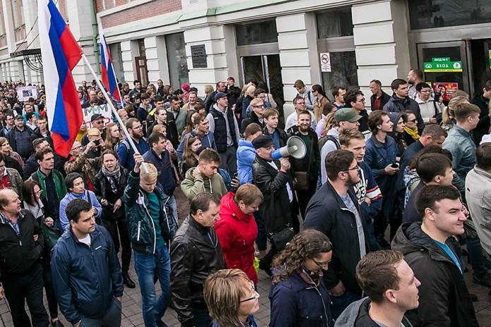 Миниатюра для: Сибирячку оштрафовали за мелкое хулиганство во время акции протеста