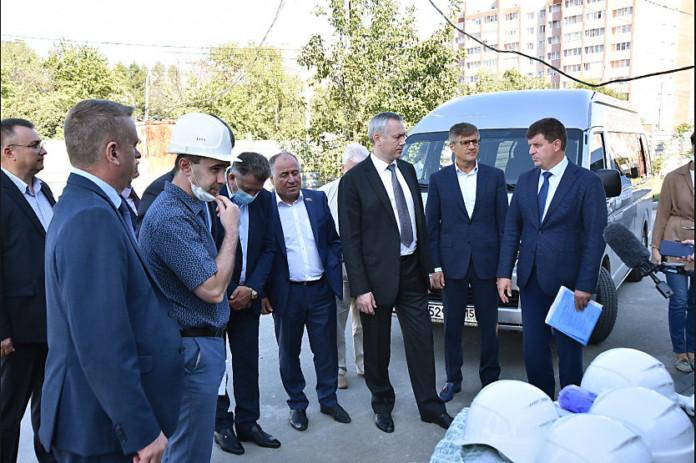 В Краснообске с рабочим визитом побывал губернатор Новосибирской области