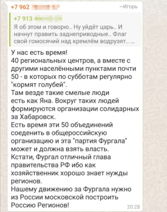 Насколько мирные цели у участников «хабаровских» гуляний в Новосибирске?