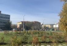 Сквер возле ГПНТБ