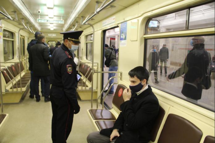 метро, масочный режим