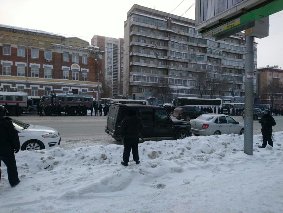 Акция протеста за Навального