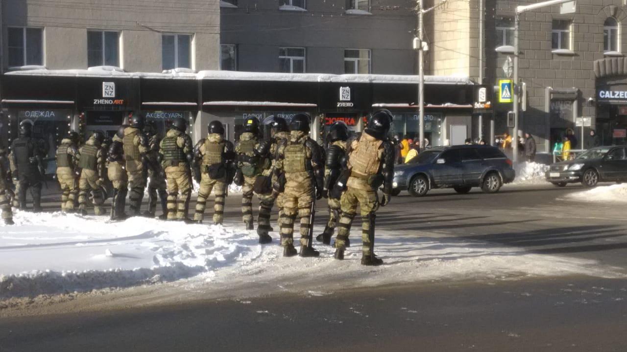 Несанкционированный митинг в Новосибирске - Ядринцевская