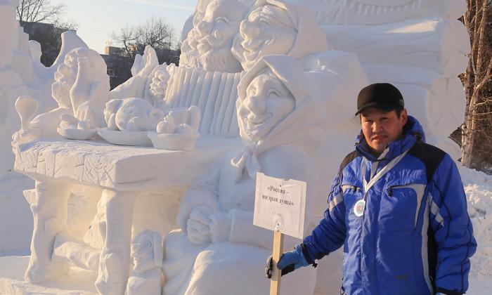 Снежные скульптуры Новосибирск