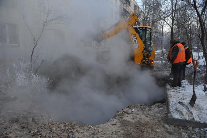 Миниатюра для: 37 многоквартирных домов в Омске остались в морозы без отопления из-за крупной коммунальной аварии