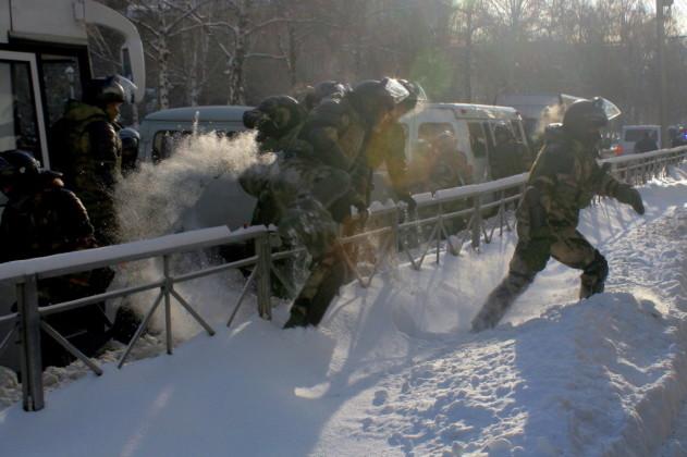 Больше ста человек задержали на митинге за Навального в Новосибирске (фотографии) - Картинка
