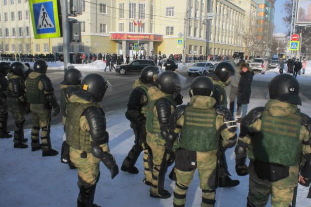 Больше ста человек задержали на митинге за Навального в Новосибирске (фотографии) - Фото