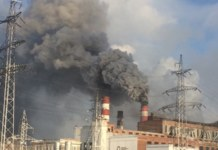 ТЭЦ-4, дым из трубы, грязный воздух