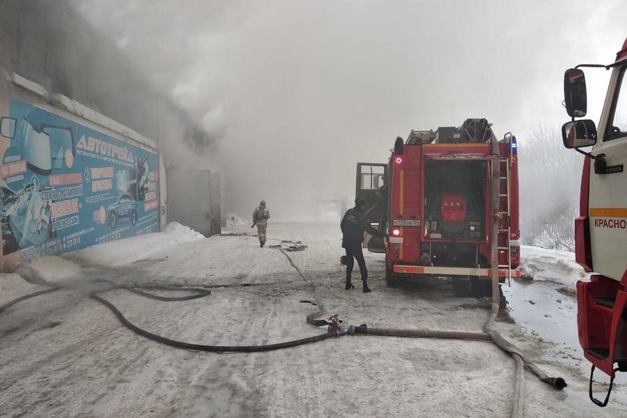 Пожар в Красноярске