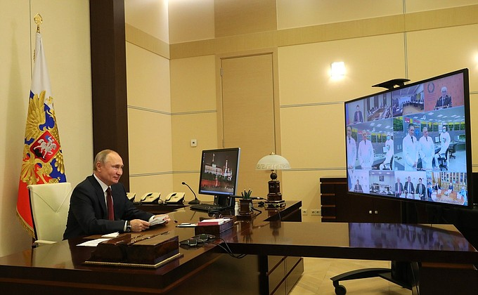 Путин и ученые
