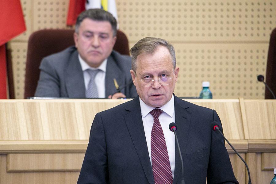 Владимир Никонов в Законодательном собрании