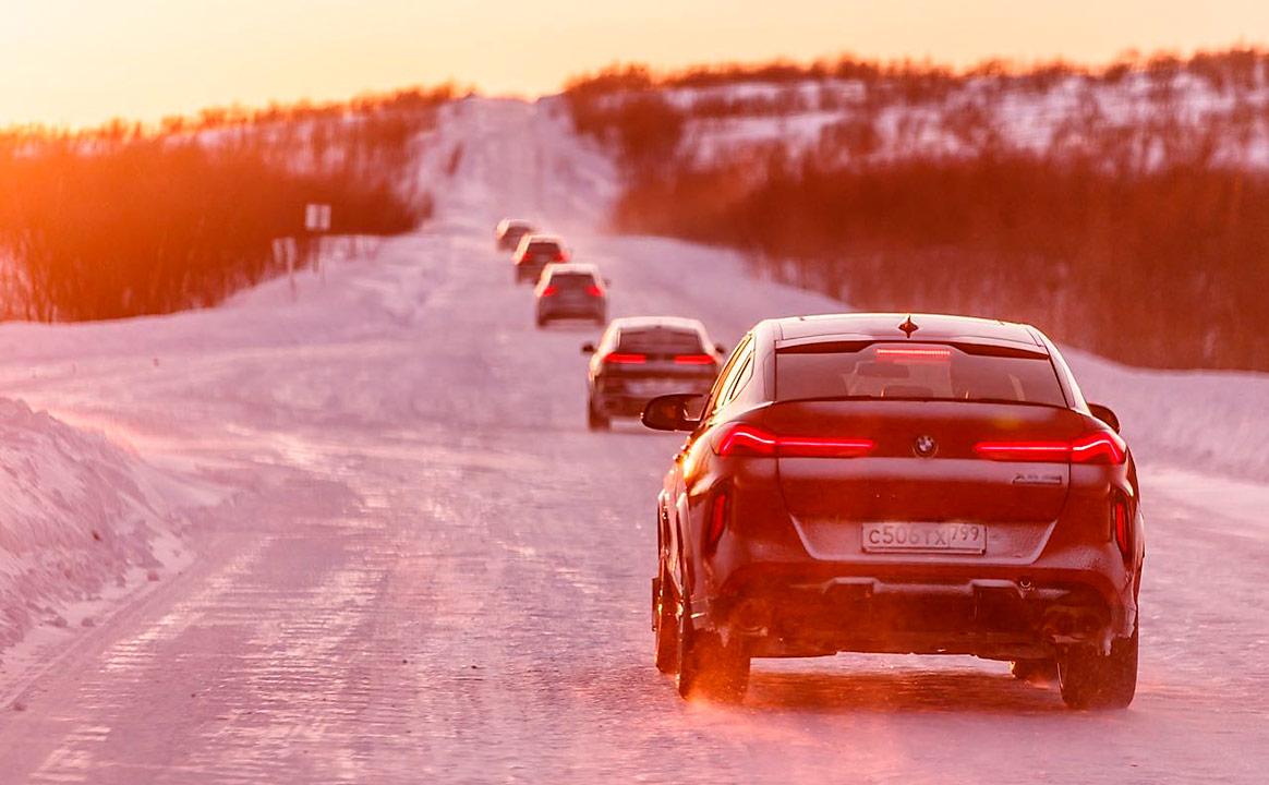 Тест-драйв BMW - снежная трасса
