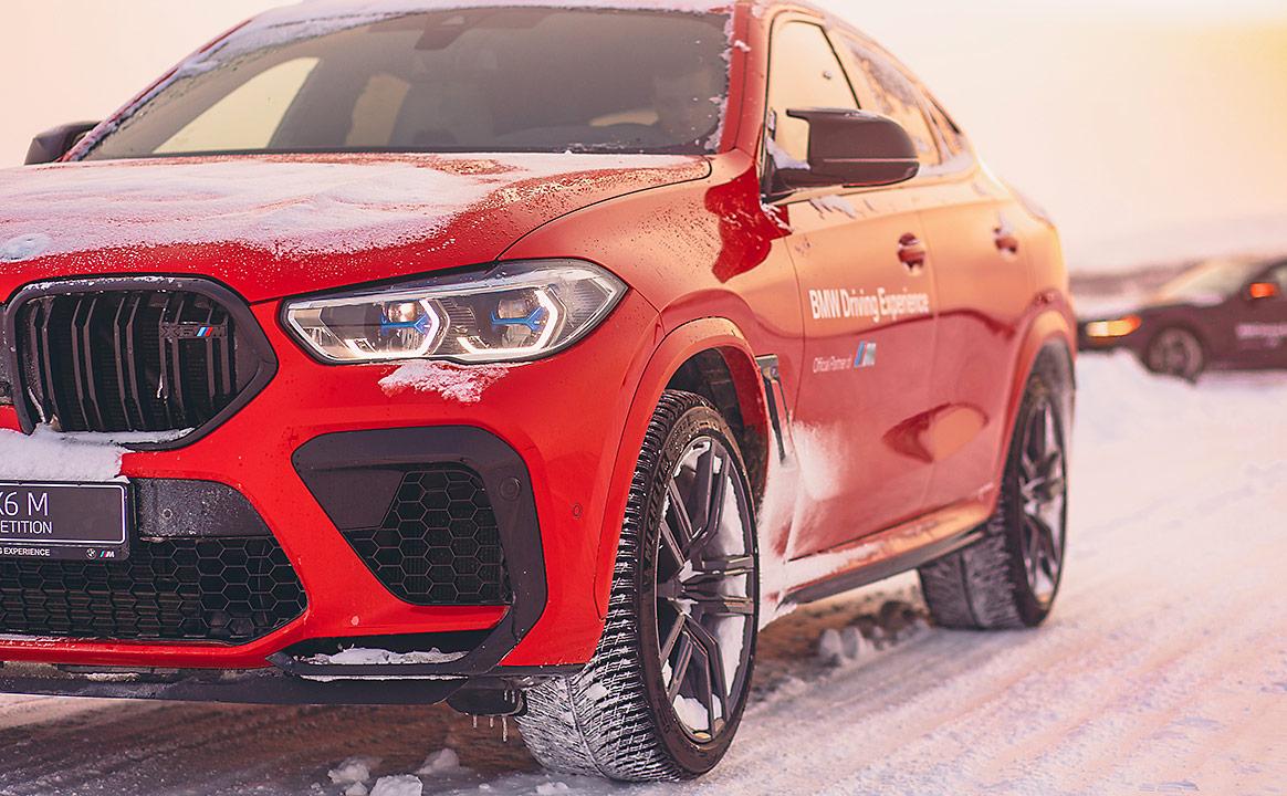 Тест-драйв BMW на зимней трассе