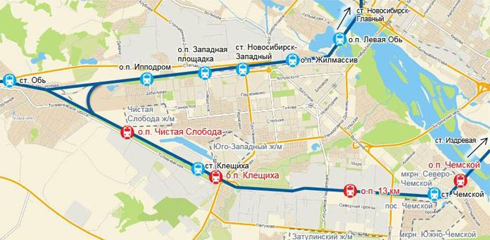 Транспортная доступность Левого берега города Новосибирска