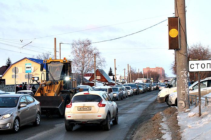 пробка на улице Титова