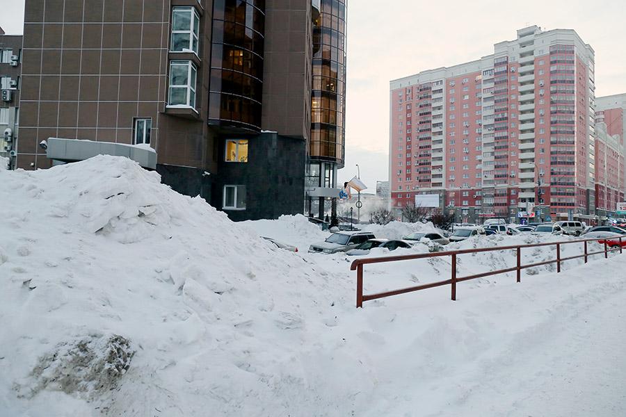 Снег в Новосибирске