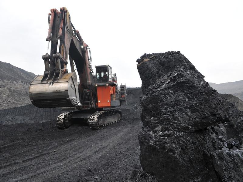 Экскаватор, добыча угля