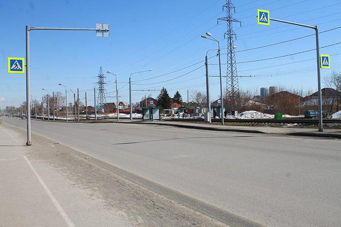 Нерегулируемый пешеходный переход Поселок Южный без разметки