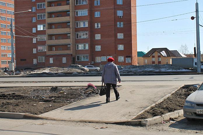 Удобный пешеходный подъём на тротуар Чистая слобода