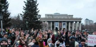 Митинг за Навального в Новосибирске