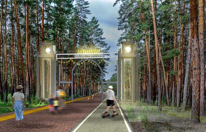 Входа в Заельцовский парк