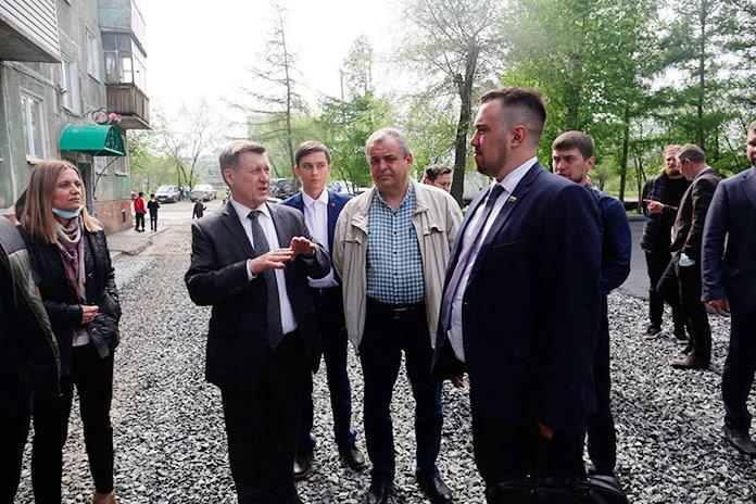 Анатолий Локоть, Ренат Сулейманов Георгий Андреев