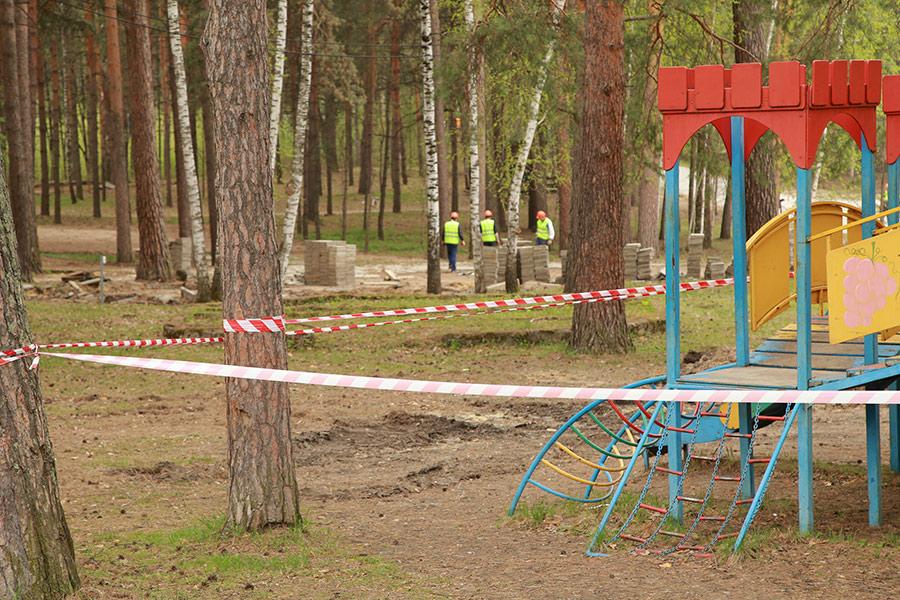 Заельцовский парк детская площадка