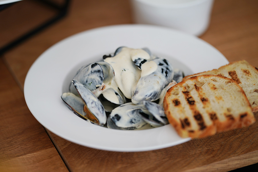 тест ресторана Salt Чилийские мидии со сливками