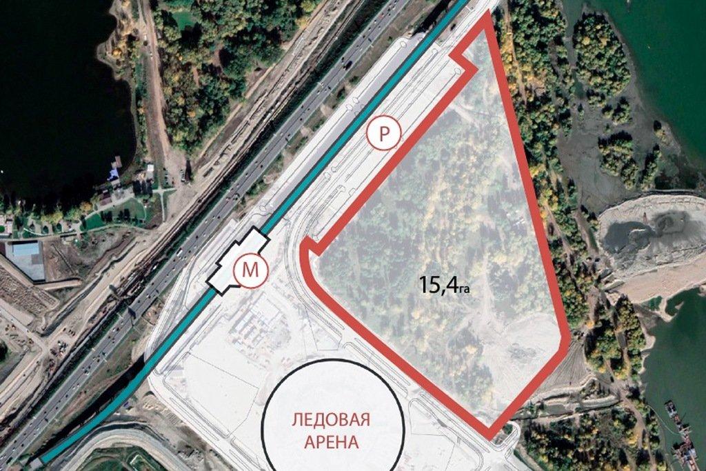 Проекта парка возле ЛДС
