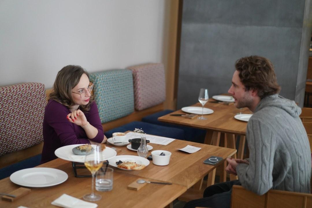 Дарья Мартынкина и шэф повар ресторана Salt Тимофей Малахов