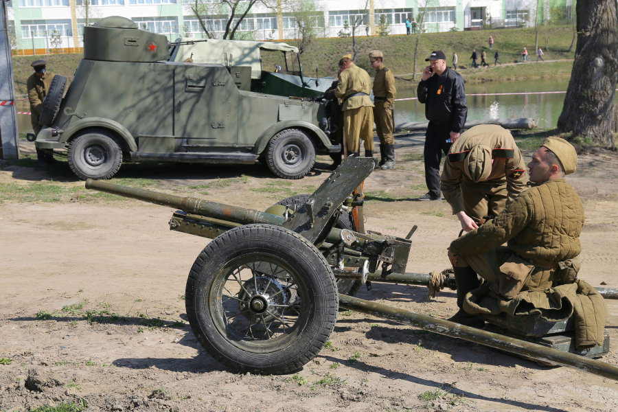 Подвиг артиллериста Александра Сапелкина. Реконструкция