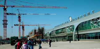 Новосибирский аэропорт Толмачево терминал пассажиры строительство