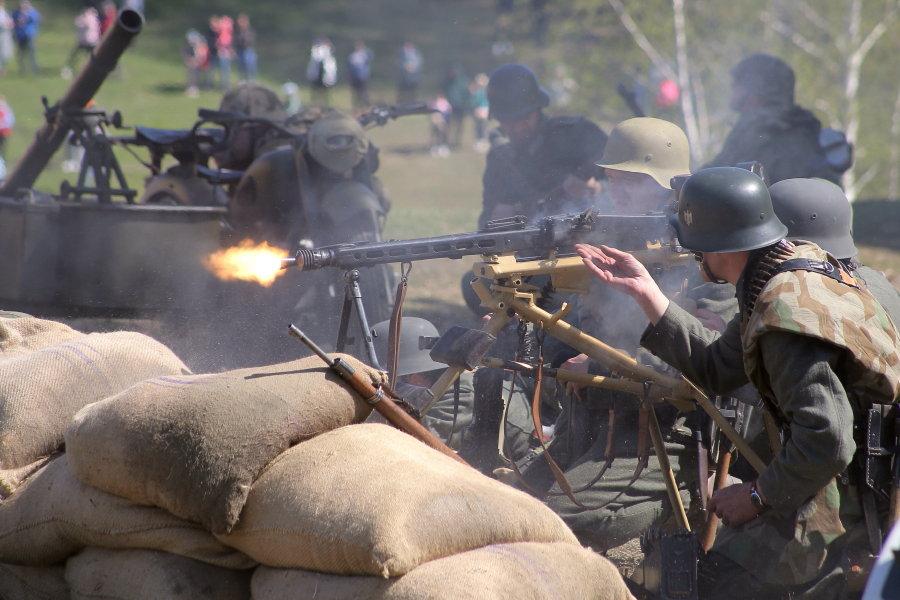 Подвиг артиллериста Александра Сапелкина. Реконструкция Линия немецкой обороны «Пантера»