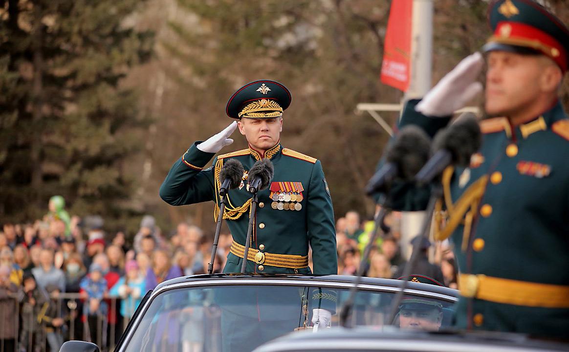 Репетиция Парада Победы генералы