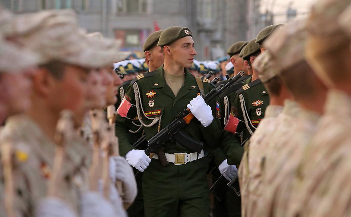 Репетиция Парада Победы разные рода войск
