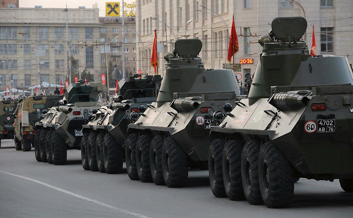 Репетиция Парада Победы БТР