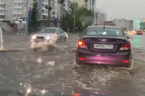 Миниатюра для: Красноярск уходит под воду из-за мощного ливня (видео)