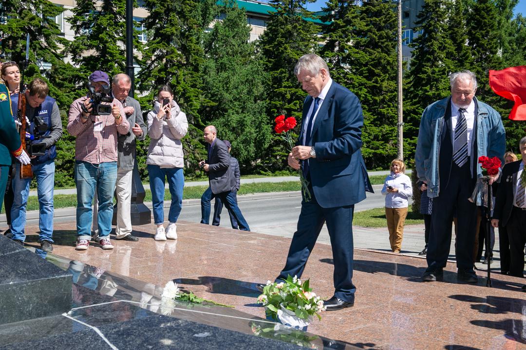 Академгородок возложение цветов Валентину Коптюгу