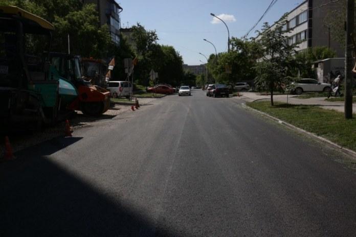 Улица Сибирская дорожные работы новый асфальт