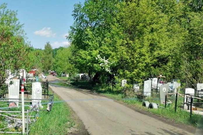 дорога могилы кладбище Клещиха