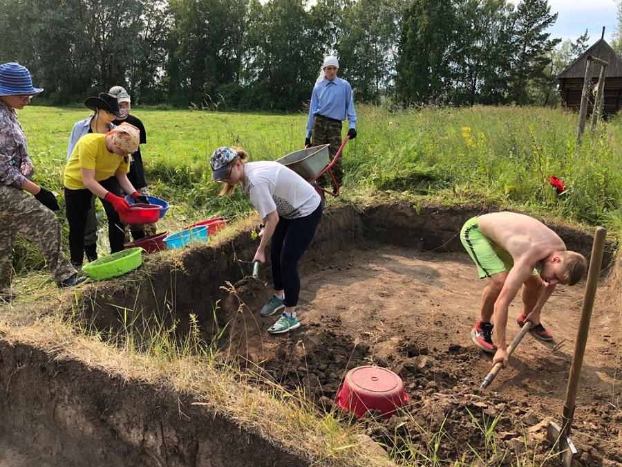 Раскопки на месте Умревинского острога
