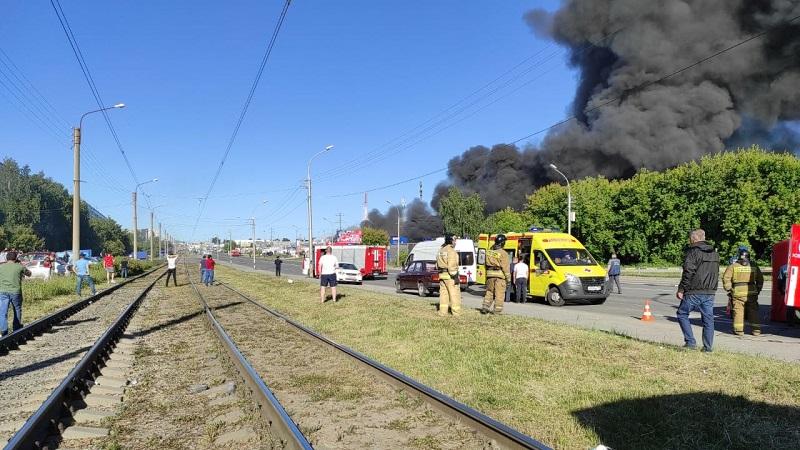 Взрыв на АЗГС в Новосибирске