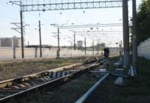 железнодорожные пути семафор Транссиб Новосибирск