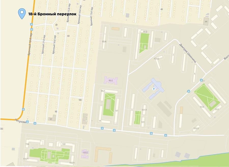 Земельный участок по адресу: город Новосибирск, переулок 18-й Бронный компании ООО СК «ВИРА-Строй»