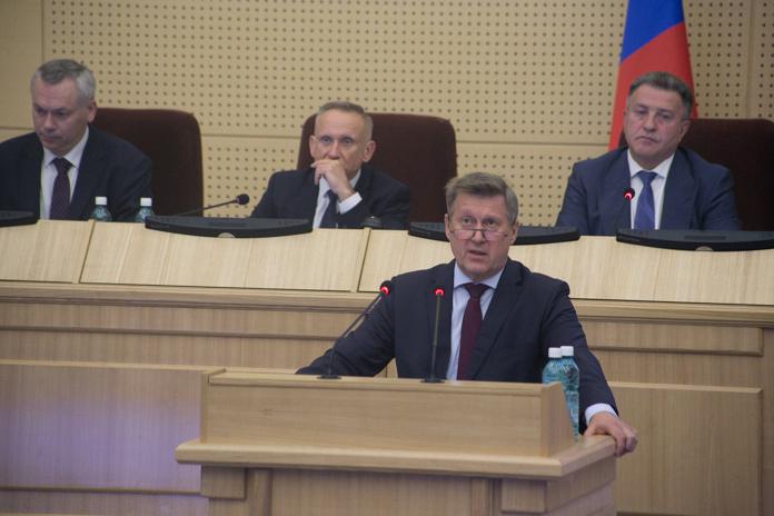 Анатолий Локоть выступление в законодательном собрании Новосибирской области