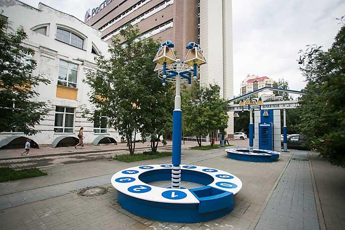 Сквер связистов в Новосибирске