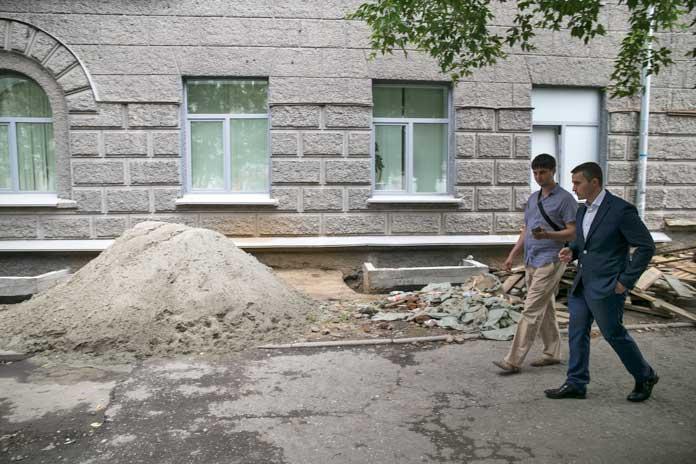 Строительный мусор в центре Новосибирска